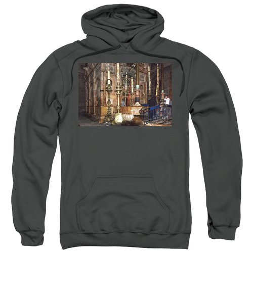 Sweatshirt featuring the photograph The Empty Tomb Of Christ by Mae Wertz