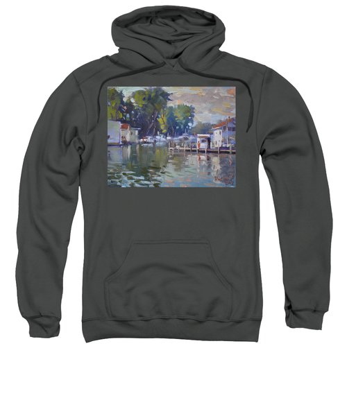 The End Of A Beautiful Day By The Boat Houses Sweatshirt