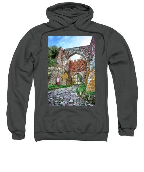 The Entrance To The Monastery Of Escornalbou Sweatshirt