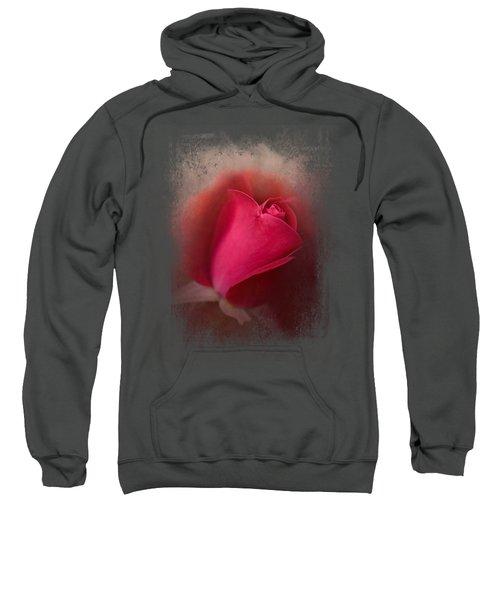 The First Red Rose Sweatshirt by Jai Johnson