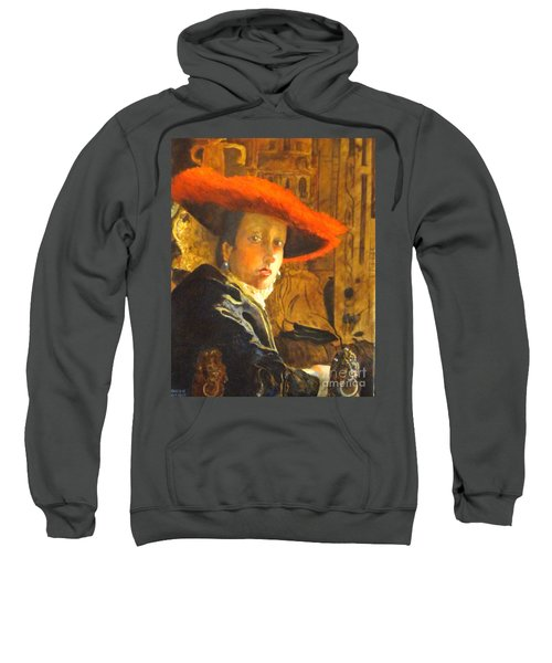 The Girl With The Red Hat After Jan Vermeer Sweatshirt