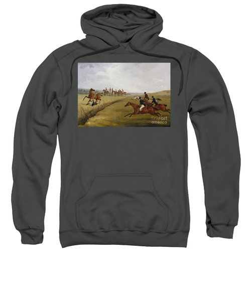 The Grand Leicestershire Steeplechase, March 12th, 1829 Sweatshirt