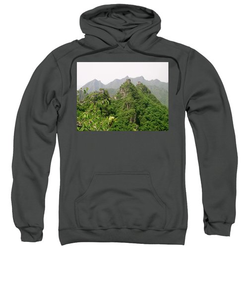The Great Wall Of China Winding Over Mountains Sweatshirt