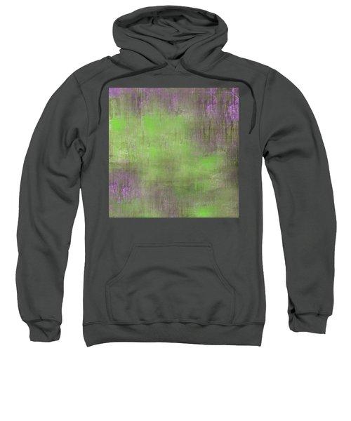 Sweatshirt featuring the digital art The Green Fog by Mihaela Stancu
