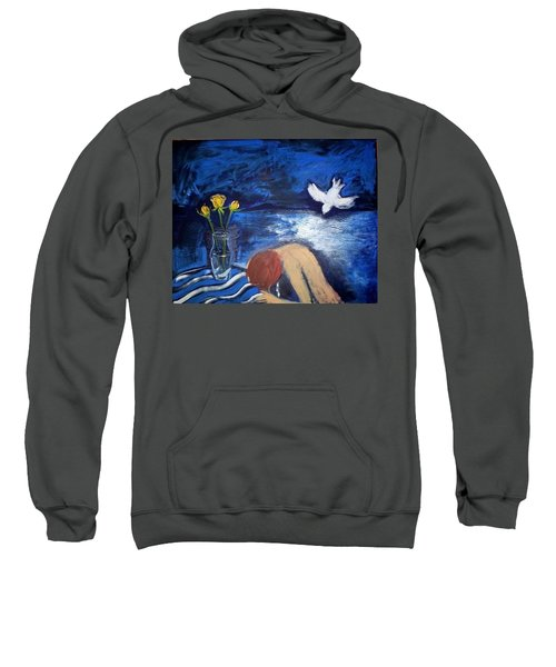 Sweatshirt featuring the painting The Healing by Winsome Gunning