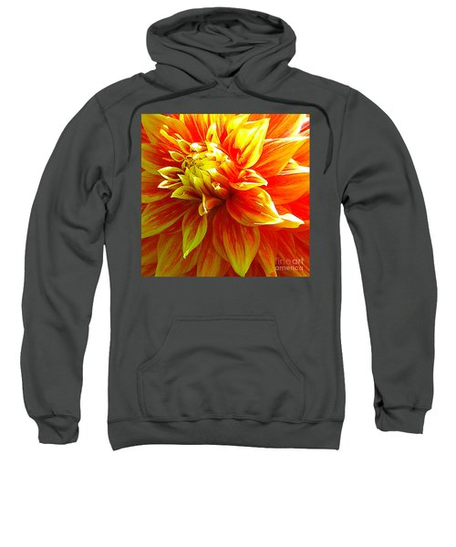 The Heart Of A Dahlia #2 Sweatshirt
