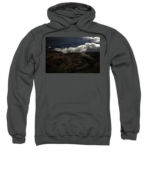 The Jerome State Park With Low Lying Clouds After Storm Sweatshirt