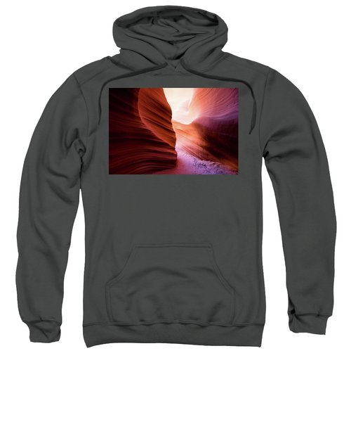 Sweatshirt featuring the photograph The Light At The End by Stephen Holst