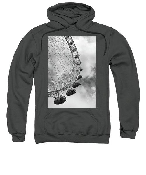 Sweatshirt featuring the photograph The London Eye, London, England by Richard Goodrich
