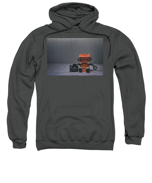 The Lonely Robot Photographer Sweatshirt