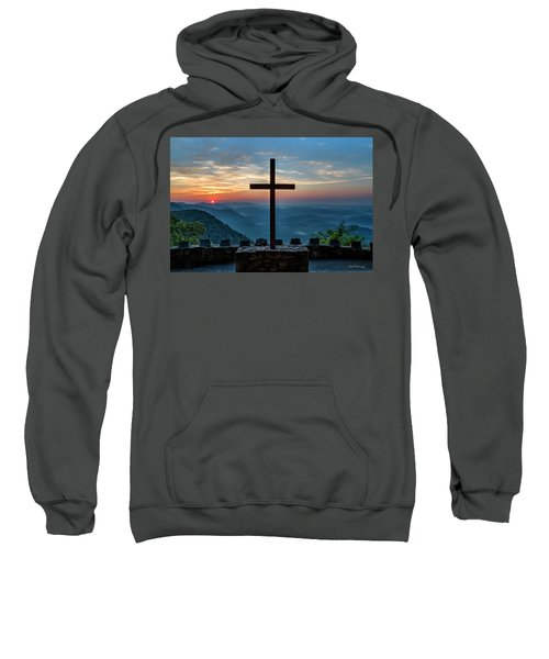 The Magnificent Cross Pretty Place Chapel Greenville Sc Great Smoky Mountains Art Sweatshirt