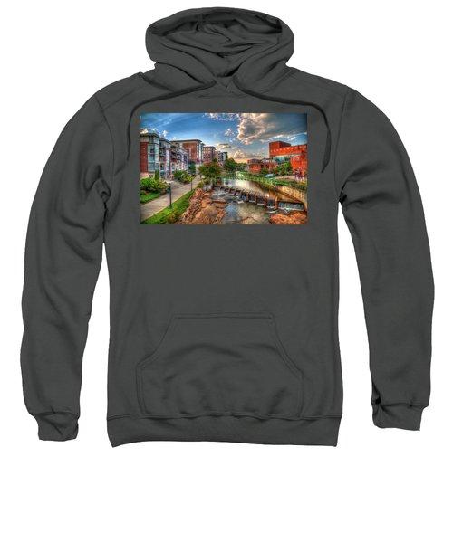 The Main Attraction Reedy River Greenville South Carolina Art Sweatshirt