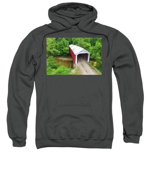 The Mcallister Covered Bridge - Ariel View Sweatshirt