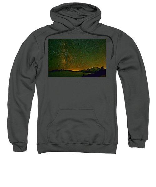 The Milky Way And Mt. Rainier Sweatshirt