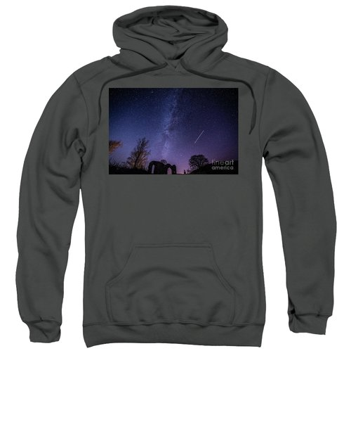 The Milky Way Over Strata Florida Abbey, Ceredigion Wales Uk Sweatshirt