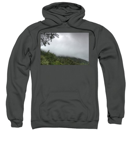 Sweatshirt featuring the photograph The Mist On The Mountain by Break The Silhouette