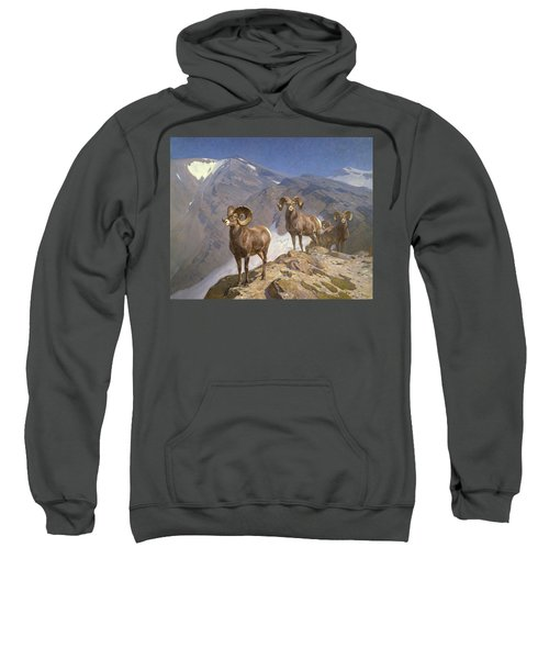 The Mountaineers-big Horn Sheep On Wilcox Pass Sweatshirt