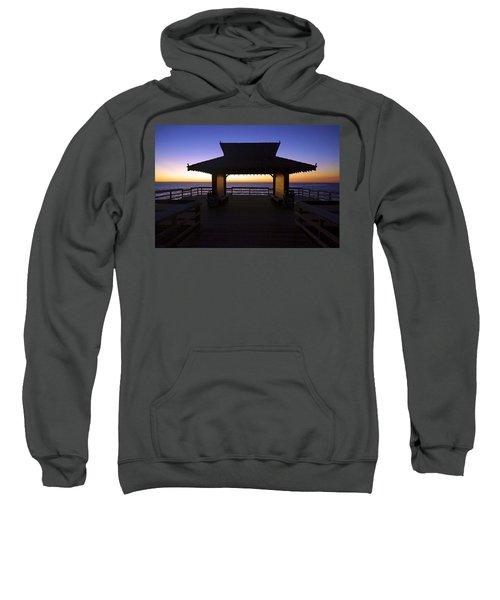 The Naples Pier At Twilight - 02 Sweatshirt
