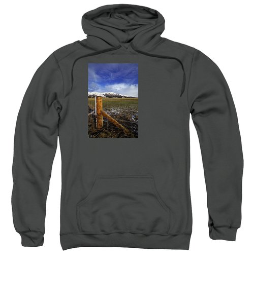 Sweatshirt featuring the photograph The Ochils In Winter by Jeremy Lavender Photography