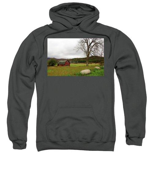 The Old Barn With Tree Sweatshirt