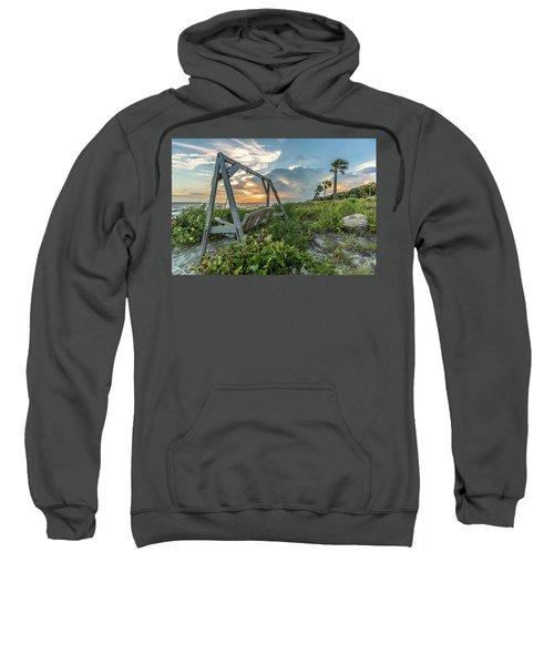 The Old Beach Swing -  Sullivan's Island, Sc Sweatshirt
