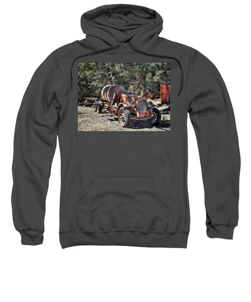 The Old Jalopy In Wine Country, California  Sweatshirt