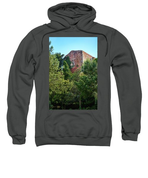 The Old Monastery Of Escornalbou Surrounded By Trees In Spain Sweatshirt