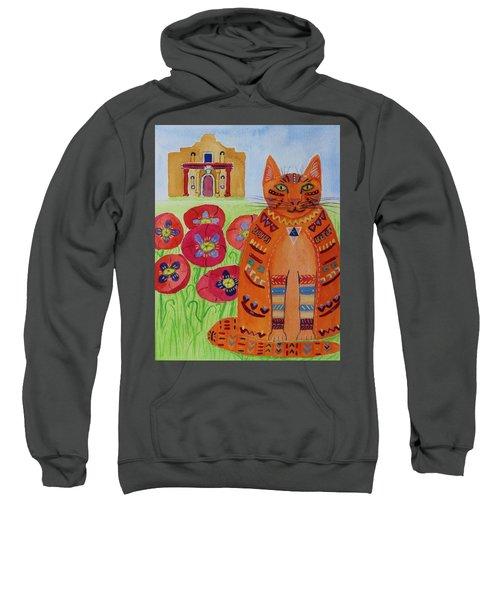 the Orange Alamo Cat Sweatshirt