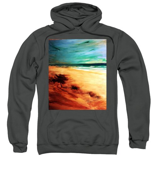 Sweatshirt featuring the painting The Remaining Pine by Winsome Gunning