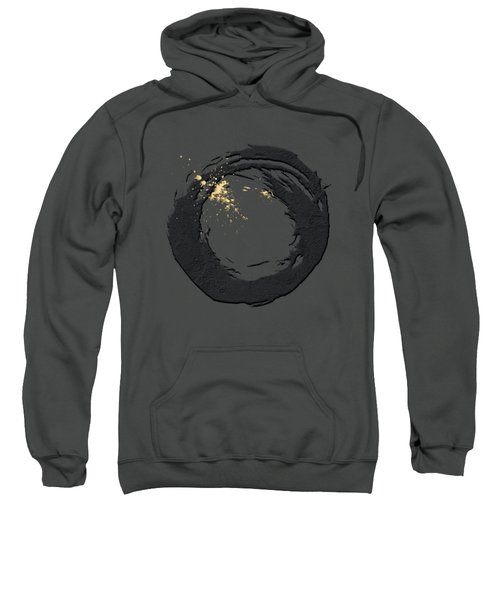 The Rings - Black On Red With Splash Of Gold No. 3 Sweatshirt