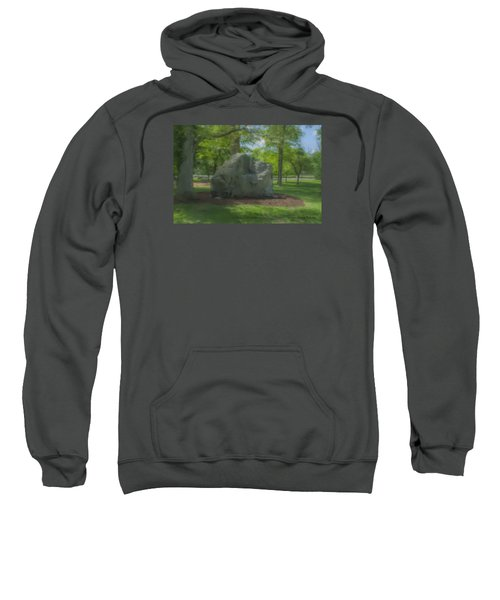 The Rock At Frothingham Park, Easton, Ma Sweatshirt