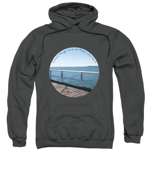 Sweatshirt featuring the photograph The Rod by Linda Lees