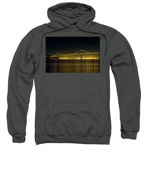 The San Francisco Oakland Bay Bridge At Night Sweatshirt