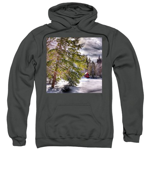 Sweatshirt featuring the photograph The Secluded Boathouse by David Patterson