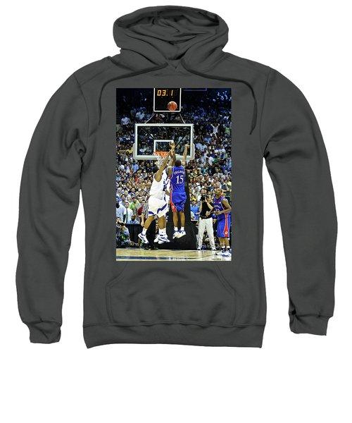 The Shot, 3.1 Seconds, Mario Chalmers Magic, Kansas Basketball 2008 Ncaa Championship Sweatshirt by Thomas Pollart