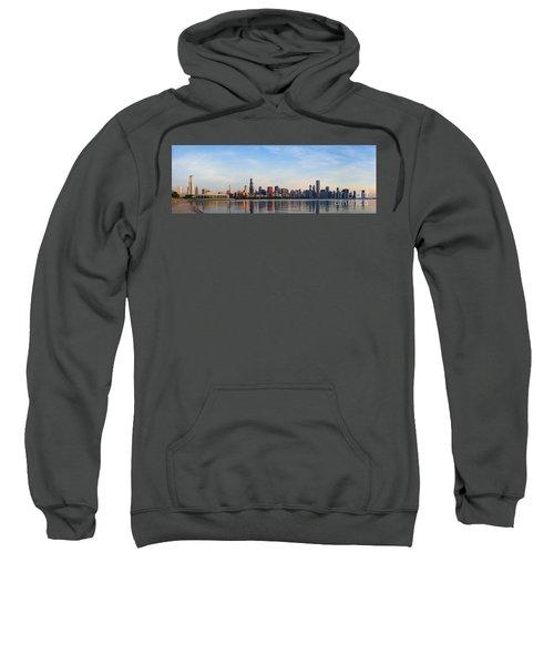 The Skyline Of Chicago At Sunrise Sweatshirt