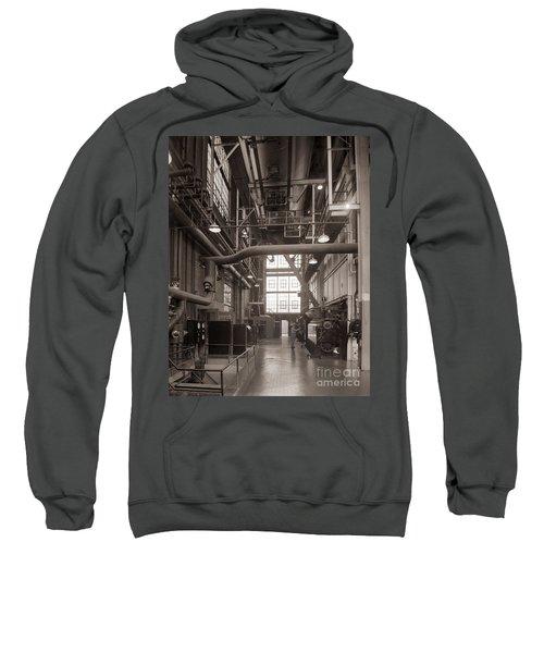 The Stegmaier Brewery Boiler Room Wilkes Barre Pennsylvania 1930's Sweatshirt