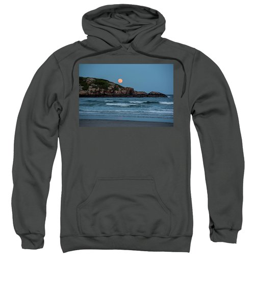 The Strawberry Moon Rising Over Good Harbor Beach Gloucester Ma Island Sweatshirt