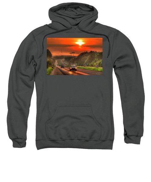 The Sunrise Commute Georgia Interstate 20 Art Sweatshirt