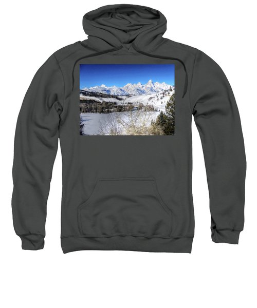 The Tetons From Gros Ventre Valley Sweatshirt