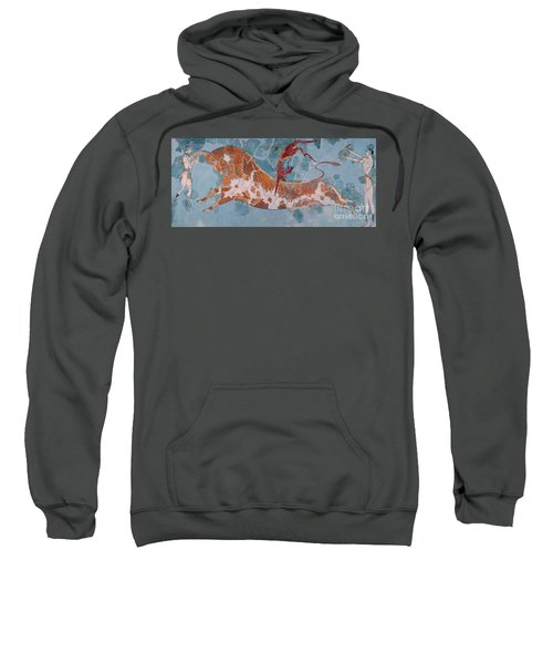 The Toreador Fresco, Knossos Palace, Crete Sweatshirt by Greek School