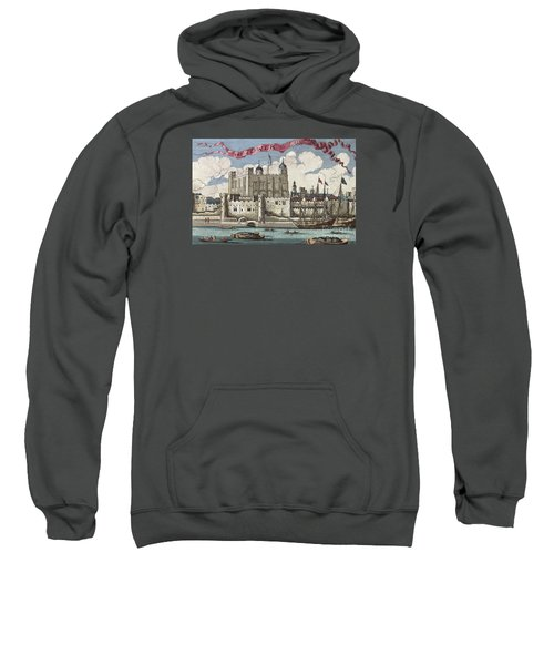 The Tower Of London Seen From The River Thames Sweatshirt by English School