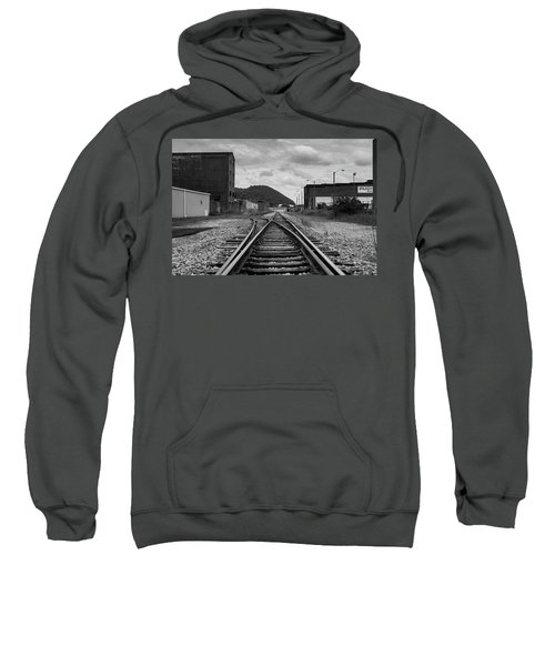 Sweatshirt featuring the photograph The Tracks by Break The Silhouette