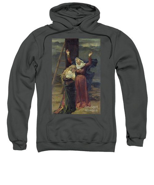The Virgin At The Foot Of The Cross Sweatshirt
