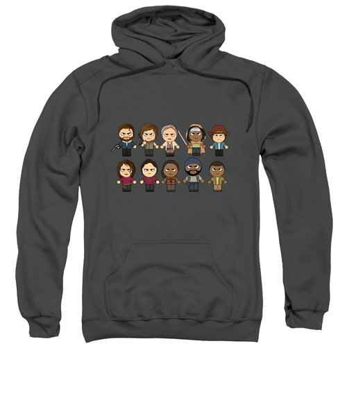 The Walking Dead - Main Characters Chibi - Amc Walking Dead - Manga Dead Sweatshirt by Paul Telling