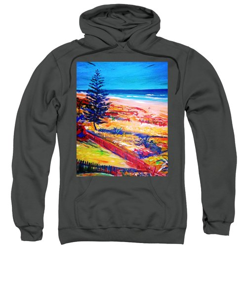 Sweatshirt featuring the painting The Winter Dunes by Winsome Gunning