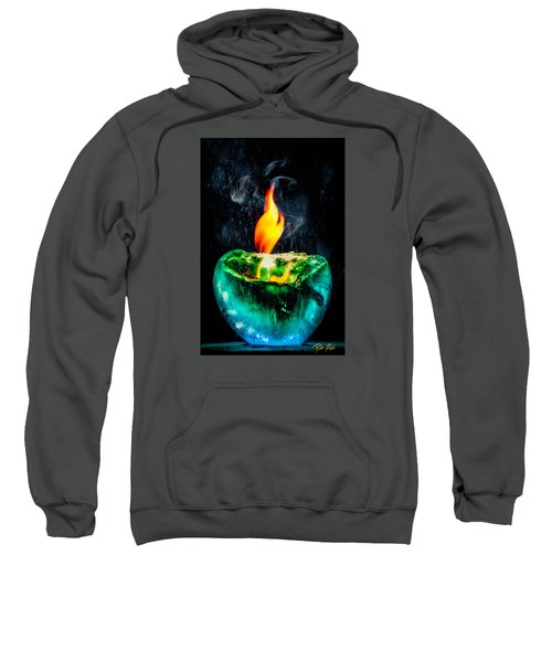 Sweatshirt featuring the photograph The Winter Of Fire And Ice by Rikk Flohr