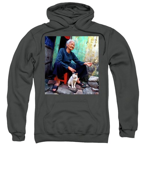 The Woman And The Cat Sweatshirt