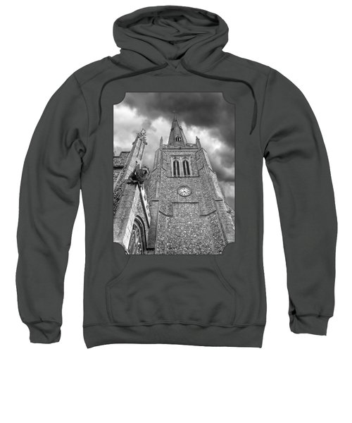 The Wrath Of God - Thaxted Church In Black And White Sweatshirt