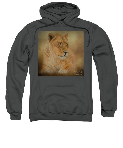 Thoughtful Lioness - Square Sweatshirt